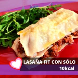lasaña fit con solo 10 kcal de pasta konjac