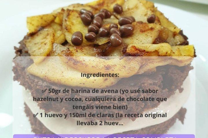 BROWNIE DE CHOCOLATE 🍫 CON MANZANA 🍎 CARAMELIZADA