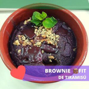 imagen de la receta fitness de brownie de tiramisú