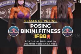 imagen de clases de posing bikini fitness ifbb